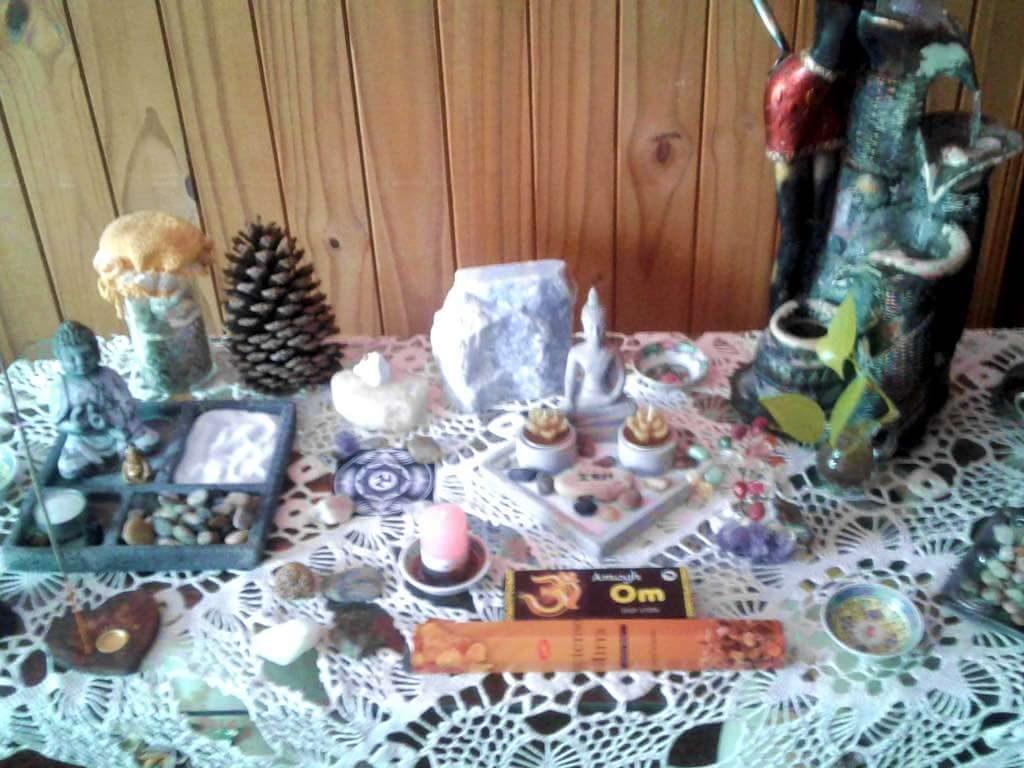 altares de meditación