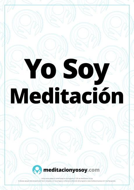 decreto yo soy meditación