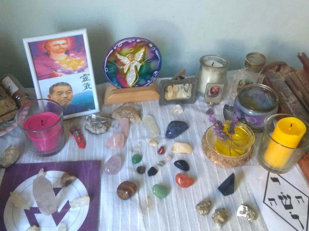 altar de meditación y de reiki