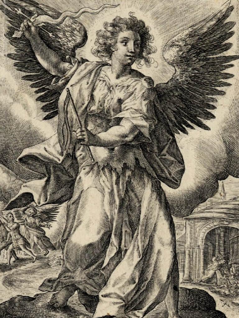 escultura de arcángel jofiel